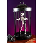 Shaking Skeleton in Cage Decoration