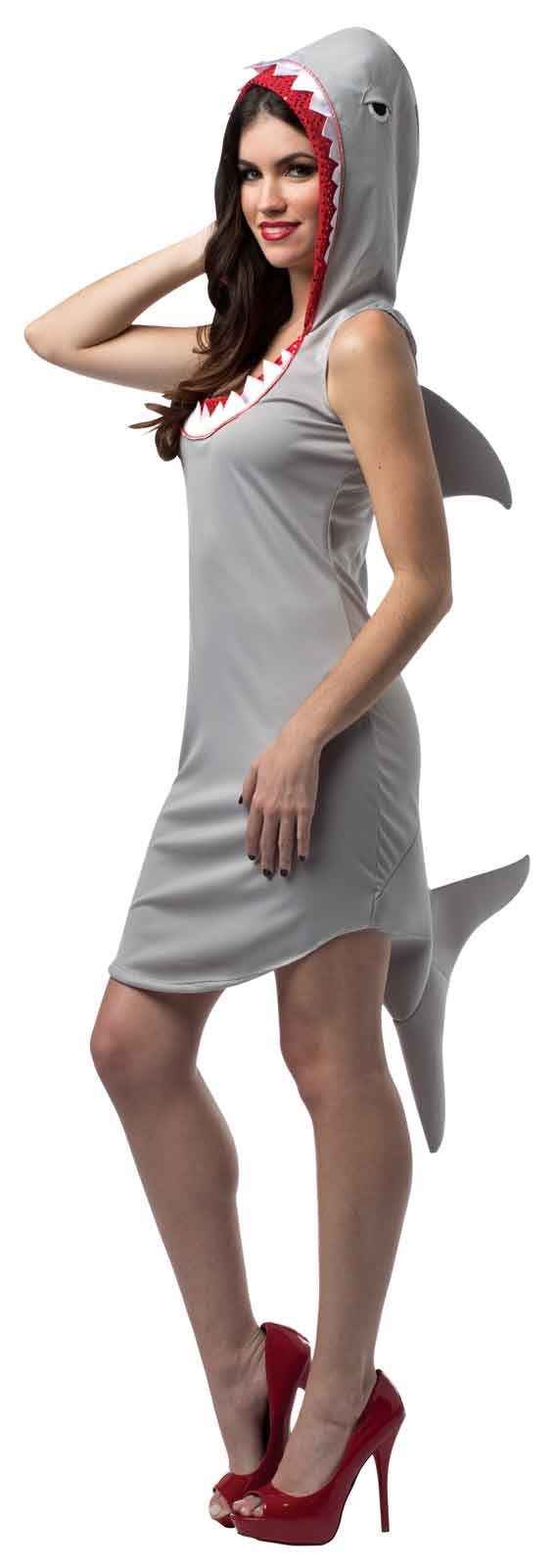 Shark adult dress costume for Fish costume for adults