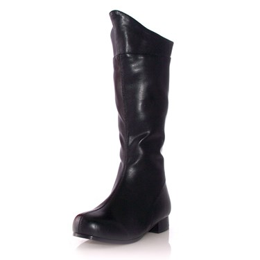 Shazam Black boots for Child Spock costume accessories