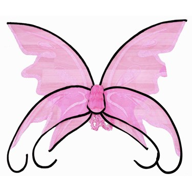 Shimmering Butterfly Wings - Pink