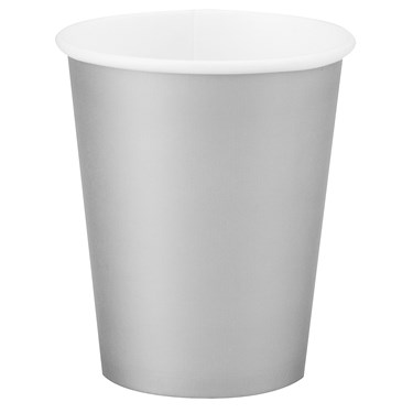 Shimmering Silver (Silver) 9 oz. Paper Cups (24 count)