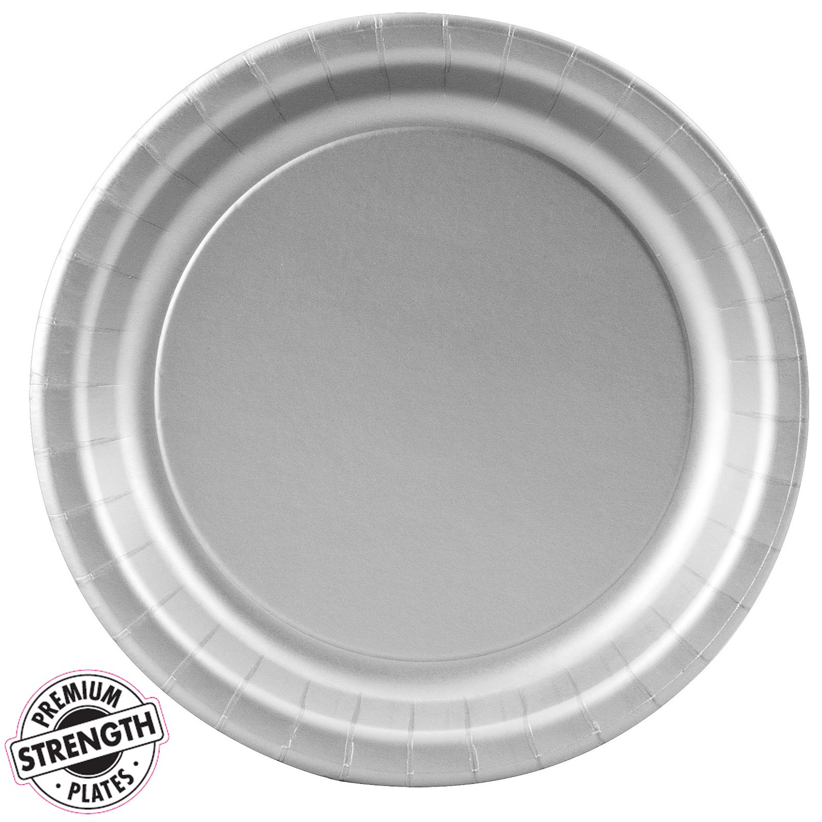 shimmering silver silver paper dessert plates 24 count. Black Bedroom Furniture Sets. Home Design Ideas