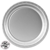 Shimmering Silver (Silver) Paper Dinner Plates (24 count)