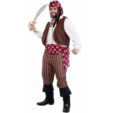 Shipwrecked Pirate Adult Plus Costume