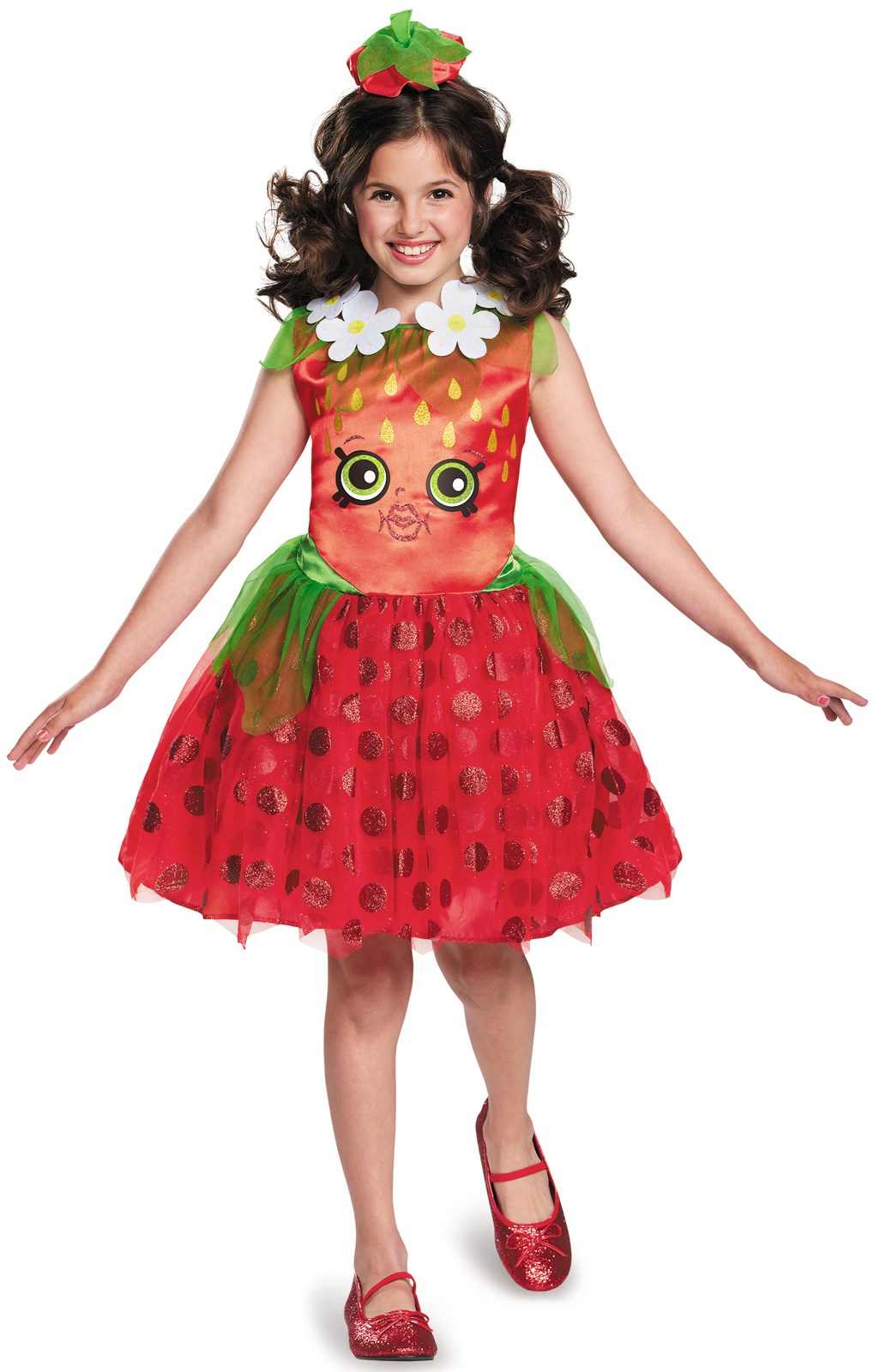 Shopkins strawberry kiss girls costume for Housse a costume