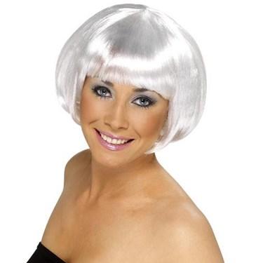 Short Bob White Wig Adult