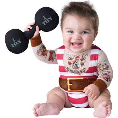 Silly Strongman Costume For Toddlers