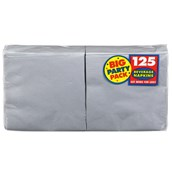 Silver Big Party Pack - Beverage Napkins (125 count)