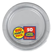 Silver Big Party Pack - Dessert Plates (50 count)