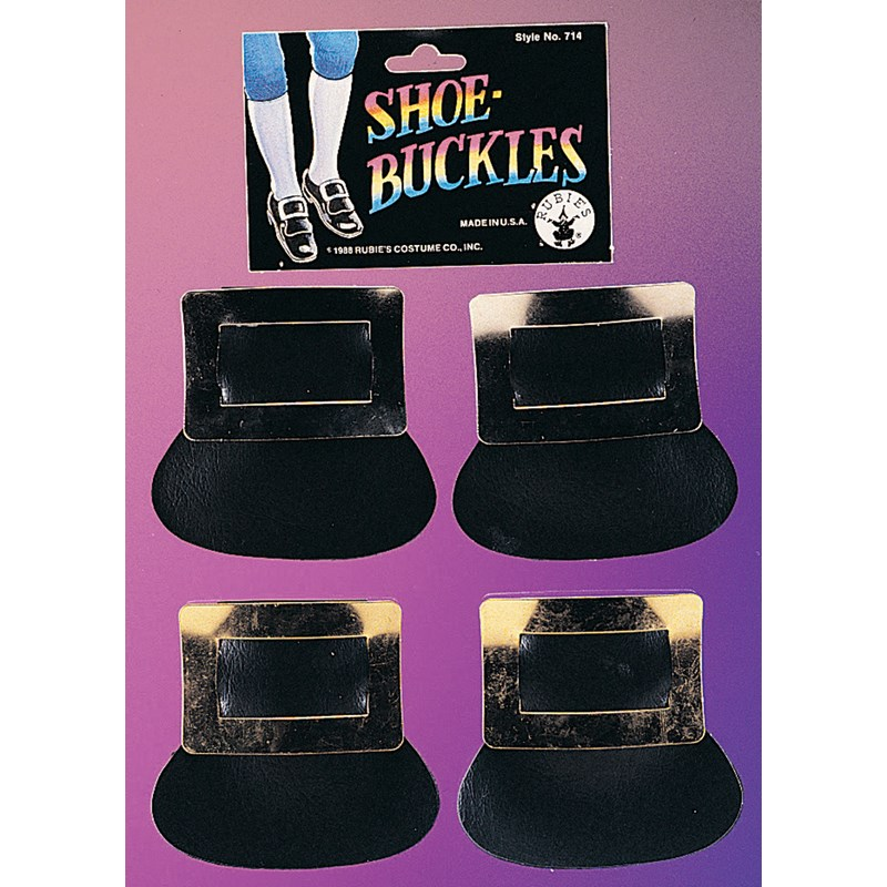 Rubies Costumes Adult Silver Colonial Shoe Buckles- Silver: One-Size