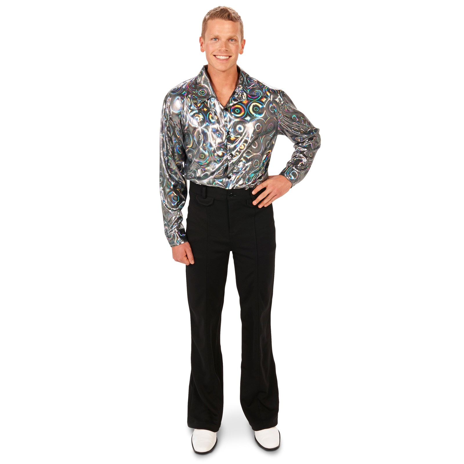 Silver Disco Shirt Adult Costume | BuyCostumes.com