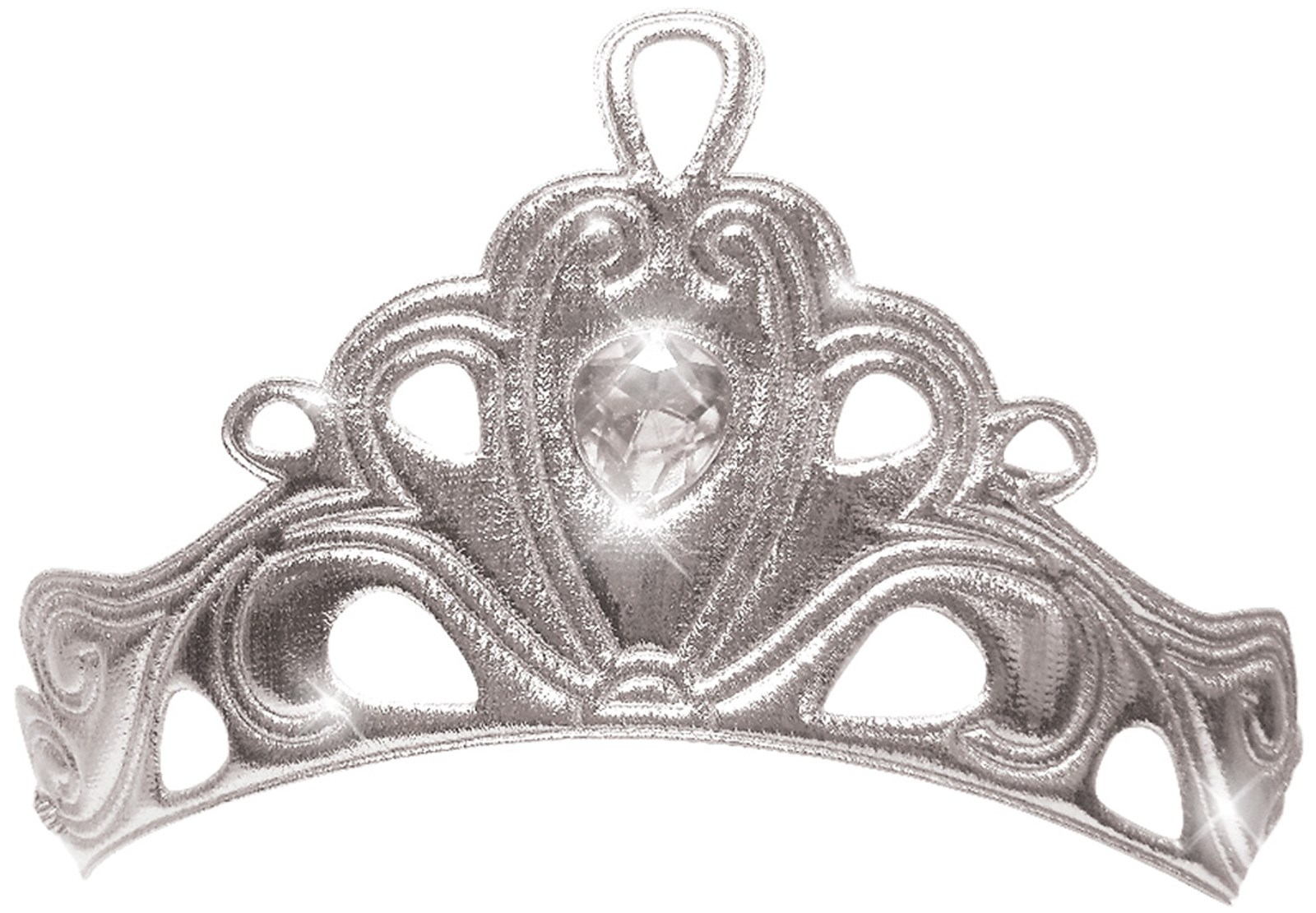Silver Diva Crown For Girls