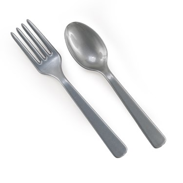 Silver Forks & Spoons (8 each)