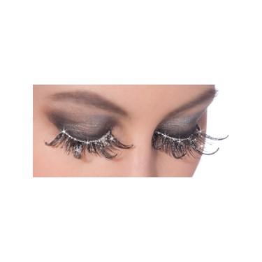 Silver Glitter Eyelashes