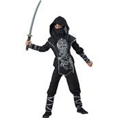 Silver Ninja Boy - Costume For Kids