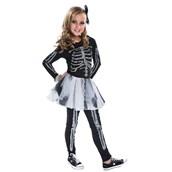 Silver Skeleton Costume for Kids