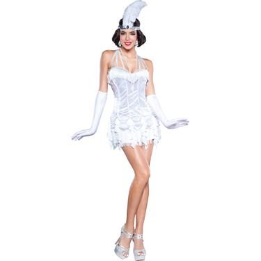 Silver Womens Flapper Dress Costume