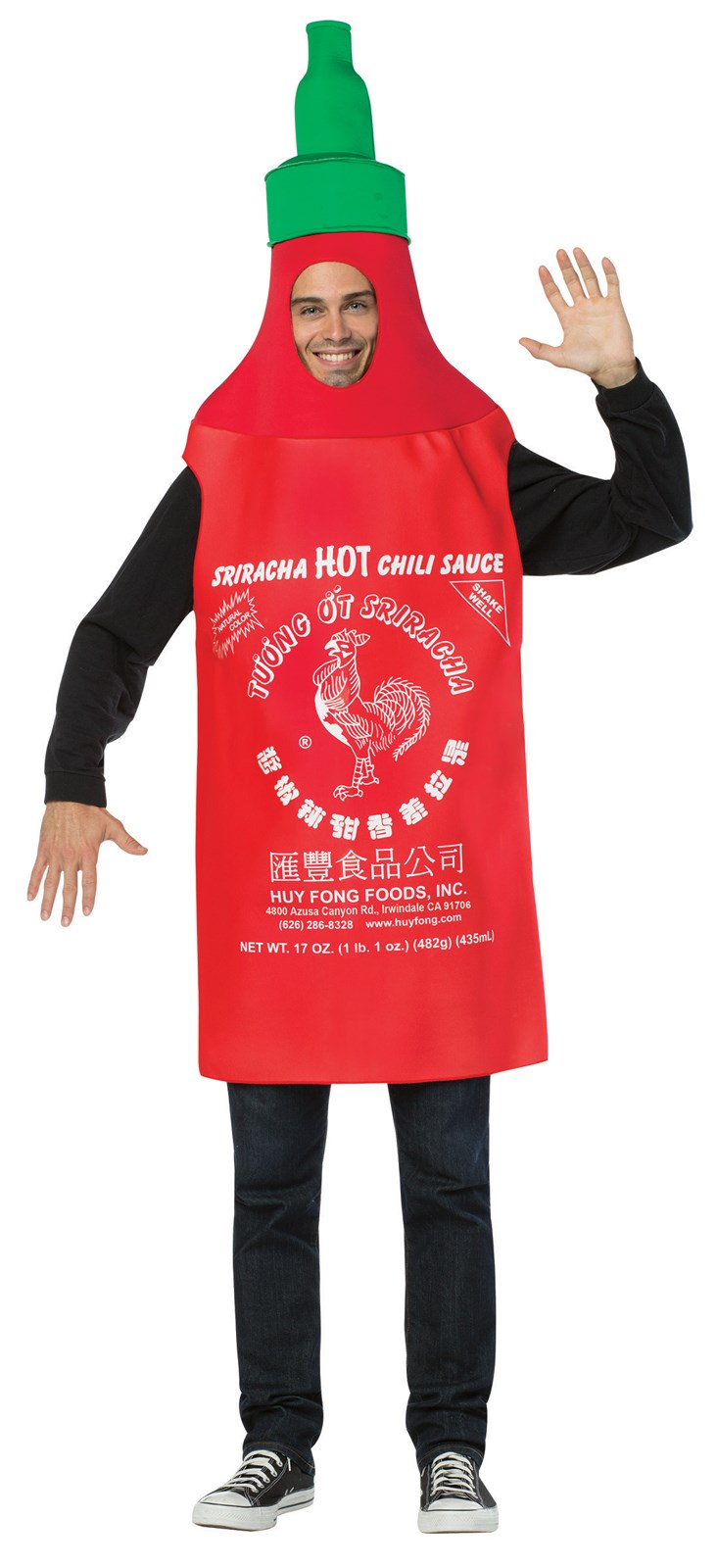 Siracha Tunic Costume For Adults