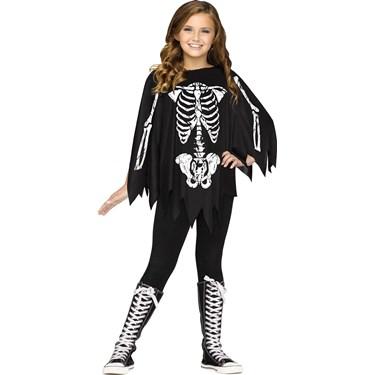 Skeleton Child Poncho Costume