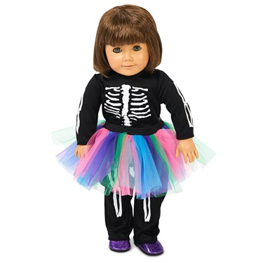 "Skeleton Tutu 18"" Doll Costume"