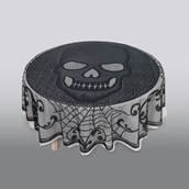 Skull Lace Round Fabric Tablecover