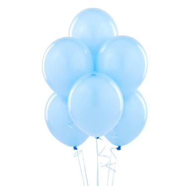 "Sky Blue 11"" Matte Balloons (6 count)"