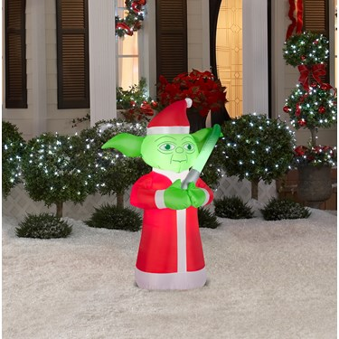 Small star wars yoda outdoor airblown decoration for Air blown decoration