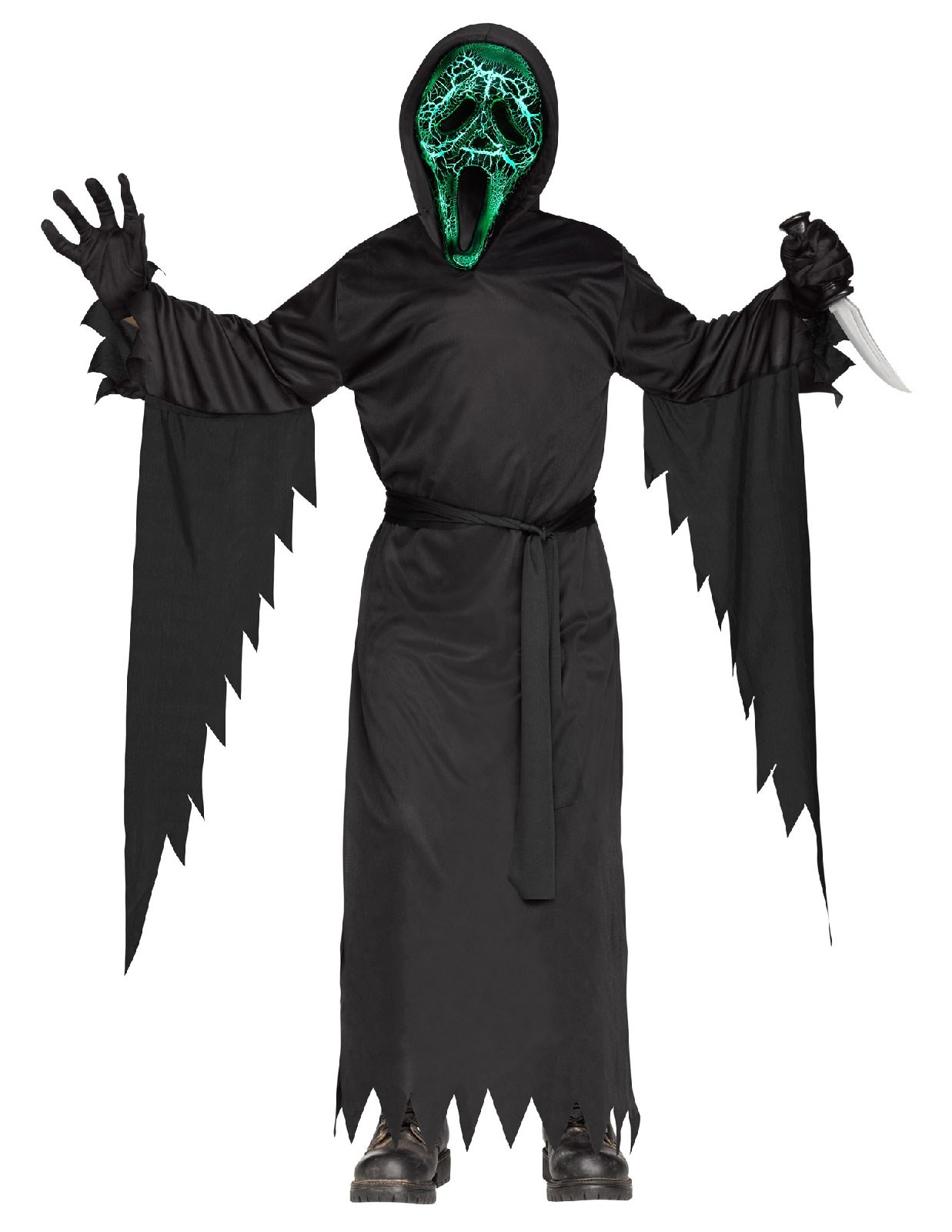 Smoldering Ghost Face Costume For Kids