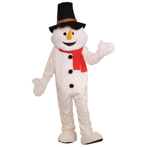 Snowman Plush Economical Mascot Adult Costume