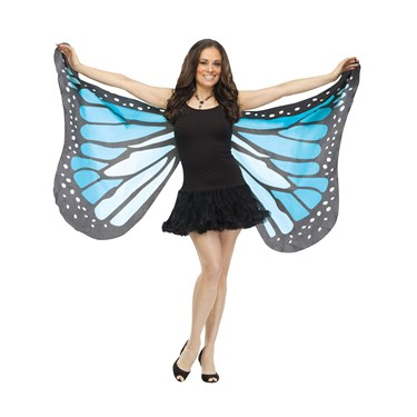 Soft Butterfly Adult Wings - Blue