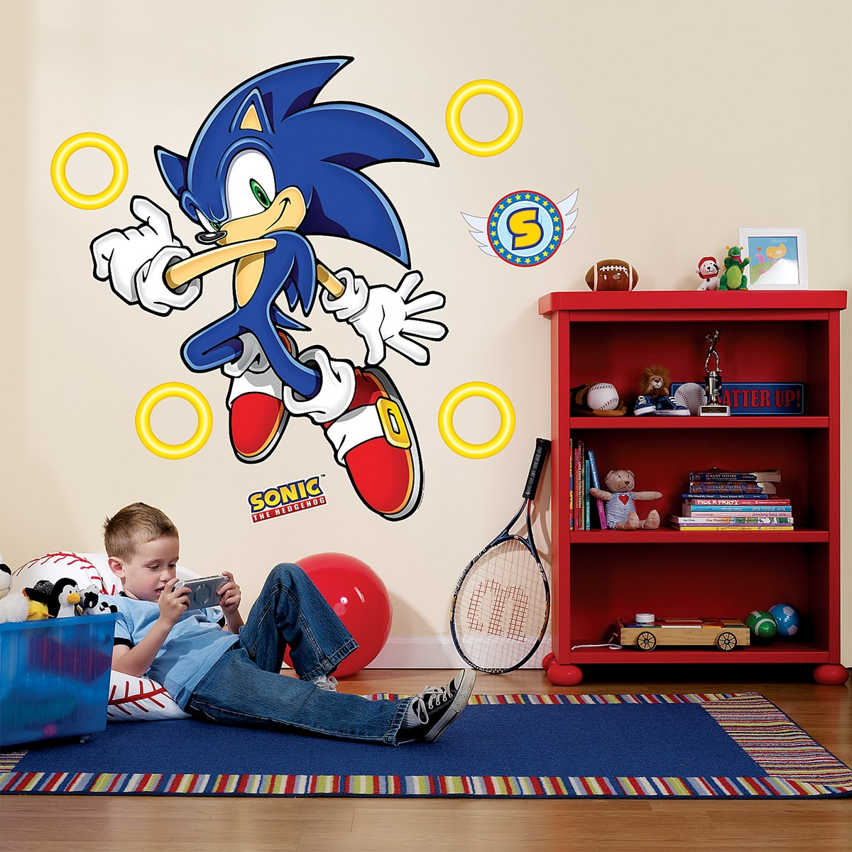 Sonic the hedgehog giant wall decals buycostumes amipublicfo Images