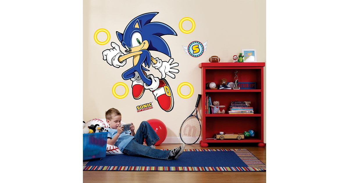 Sonic The Hedgehog Giant Wall Decals Buycostumes Com