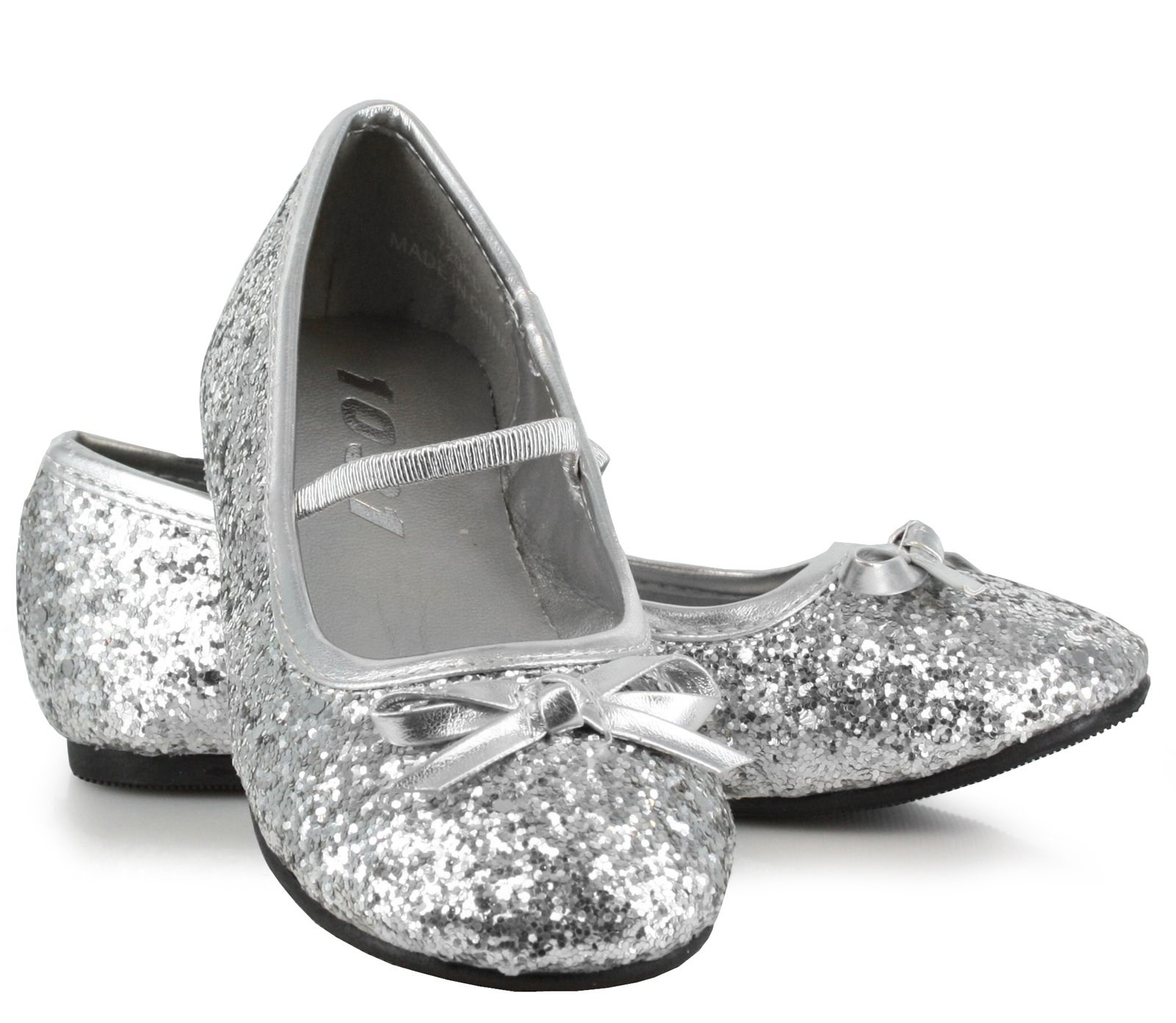 Kids Silver Sparkly Shoes