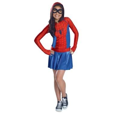 Spider-Girl Hooded Dress Child Costume