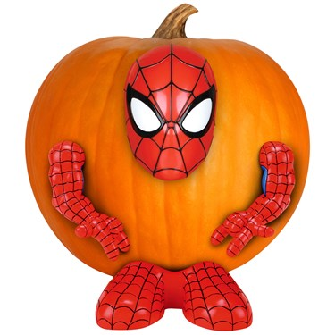 Spider-Man Push-In Pumpkin Decoration