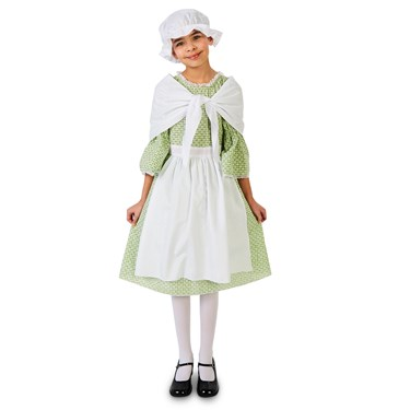 Spring Meadow Printed Colonial Girls Costume