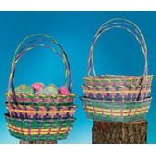 Square Bamboo Easter Basket (1) Assorted