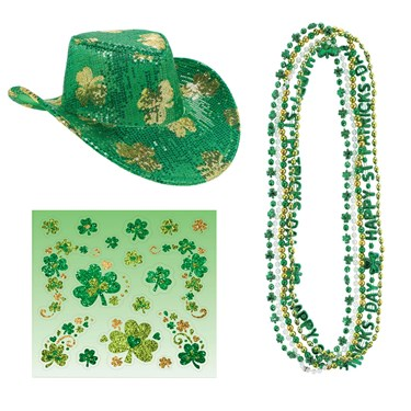 St. Patrick's Day Hat and Bead Bundle