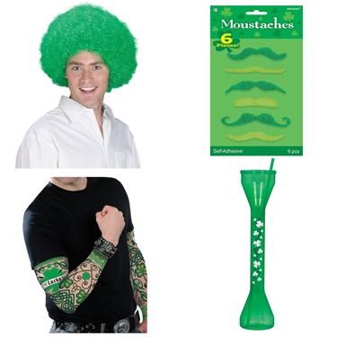 St. Patrick's Day Men's Dress Up and Drink Bundle
