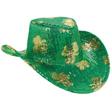 St. Patrick's Day Sequin Adult Cowboy Hat