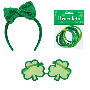 St. Patrick's Day Sunglasses and Headband Bundle