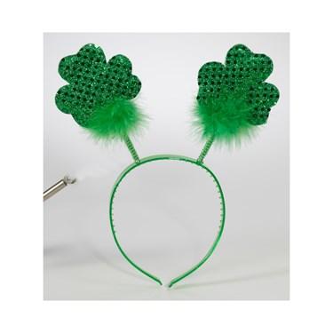 St. Patrick's Shamrock Bopper Headband