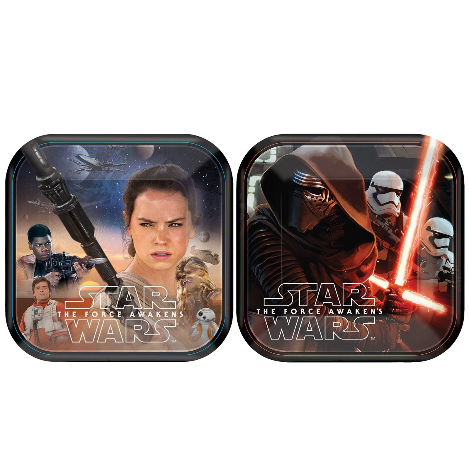 Star Wars 7 Dessert Plates