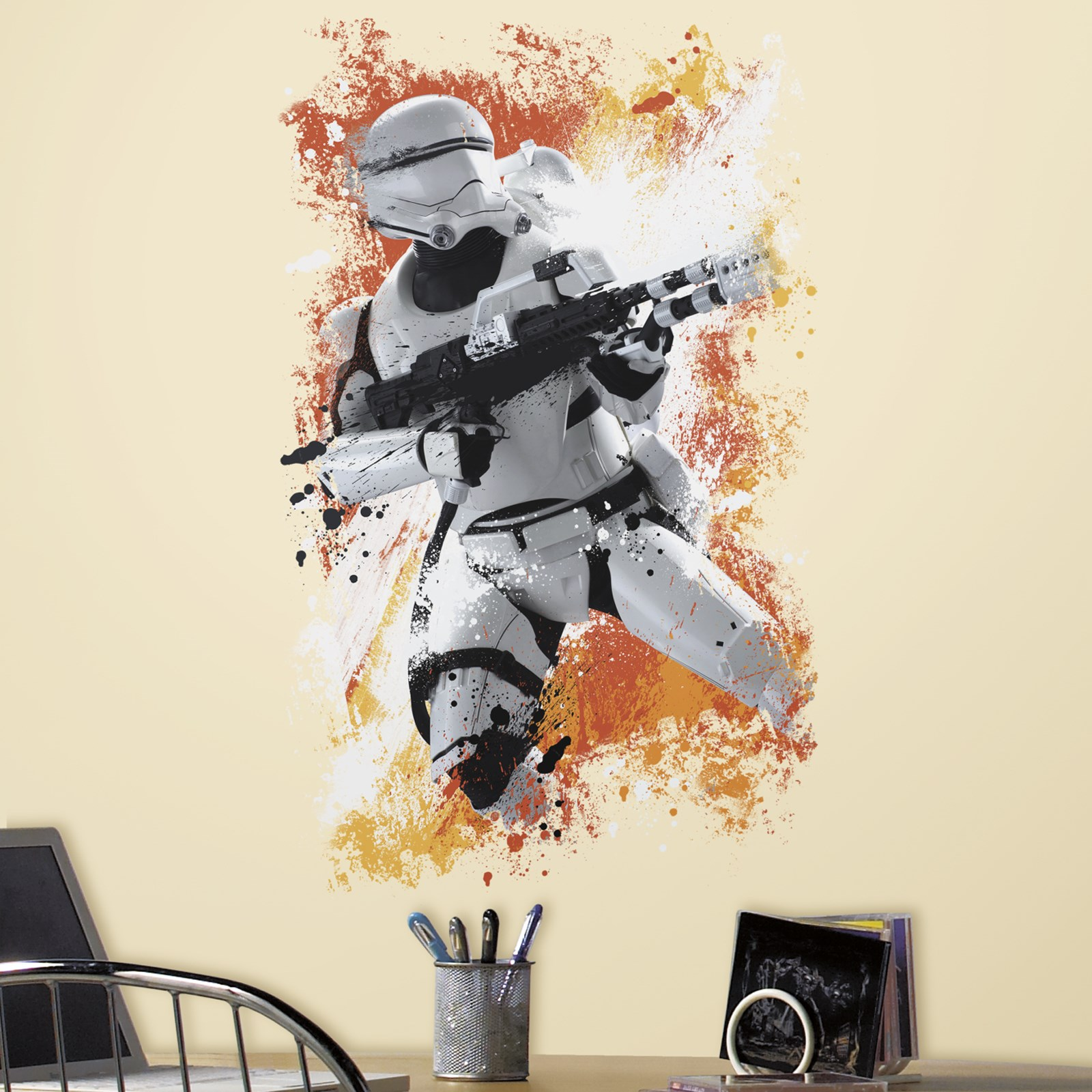 Star Wars 7 Flametrooper Peel and Stick Wall Decal