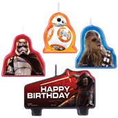 Star Wars 7 The Force Awakens Birthday Candle Set (4 Pieces)