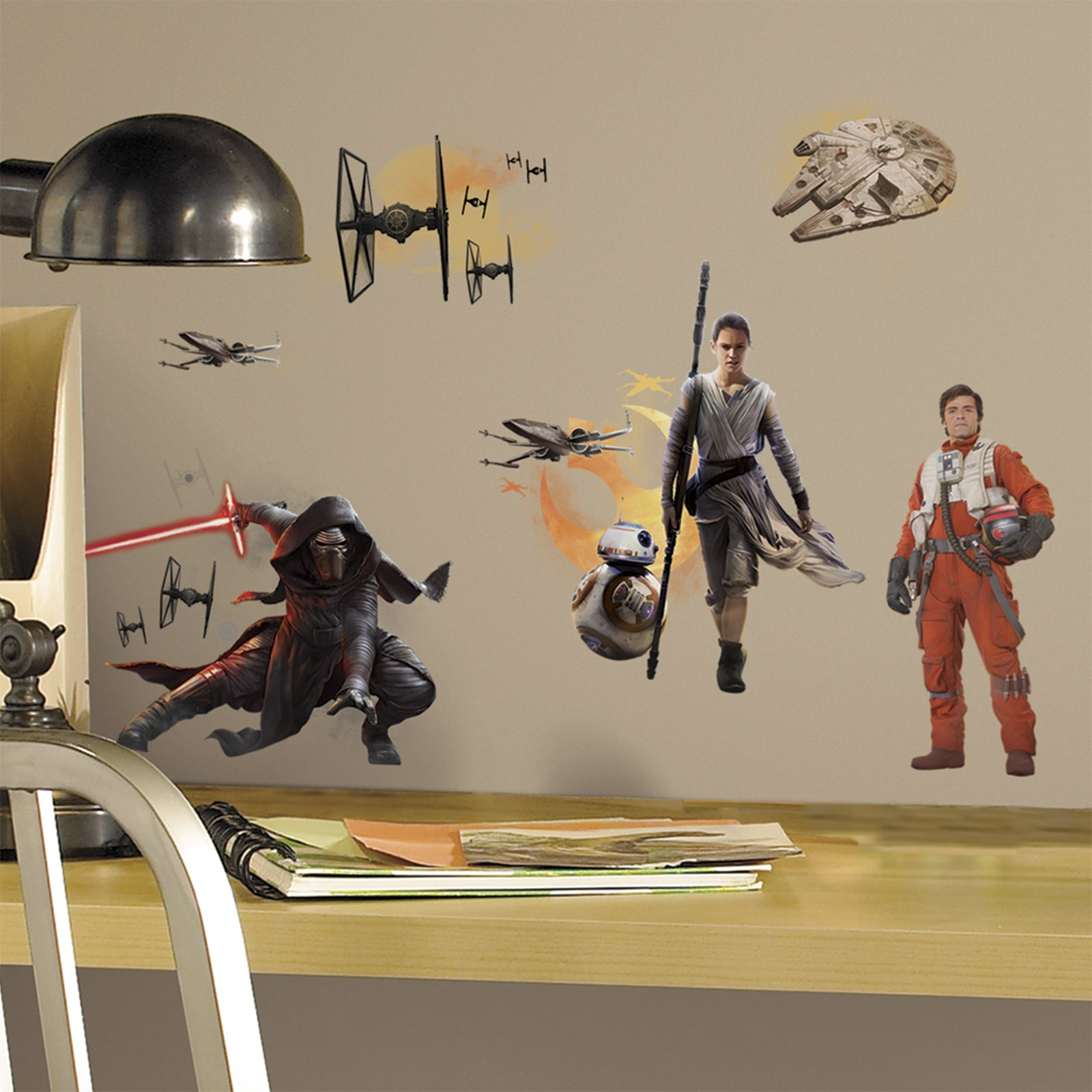 Wall decals clings buycostumes star wars 7 the force awakens characters peel and stick wall decals amipublicfo Image collections