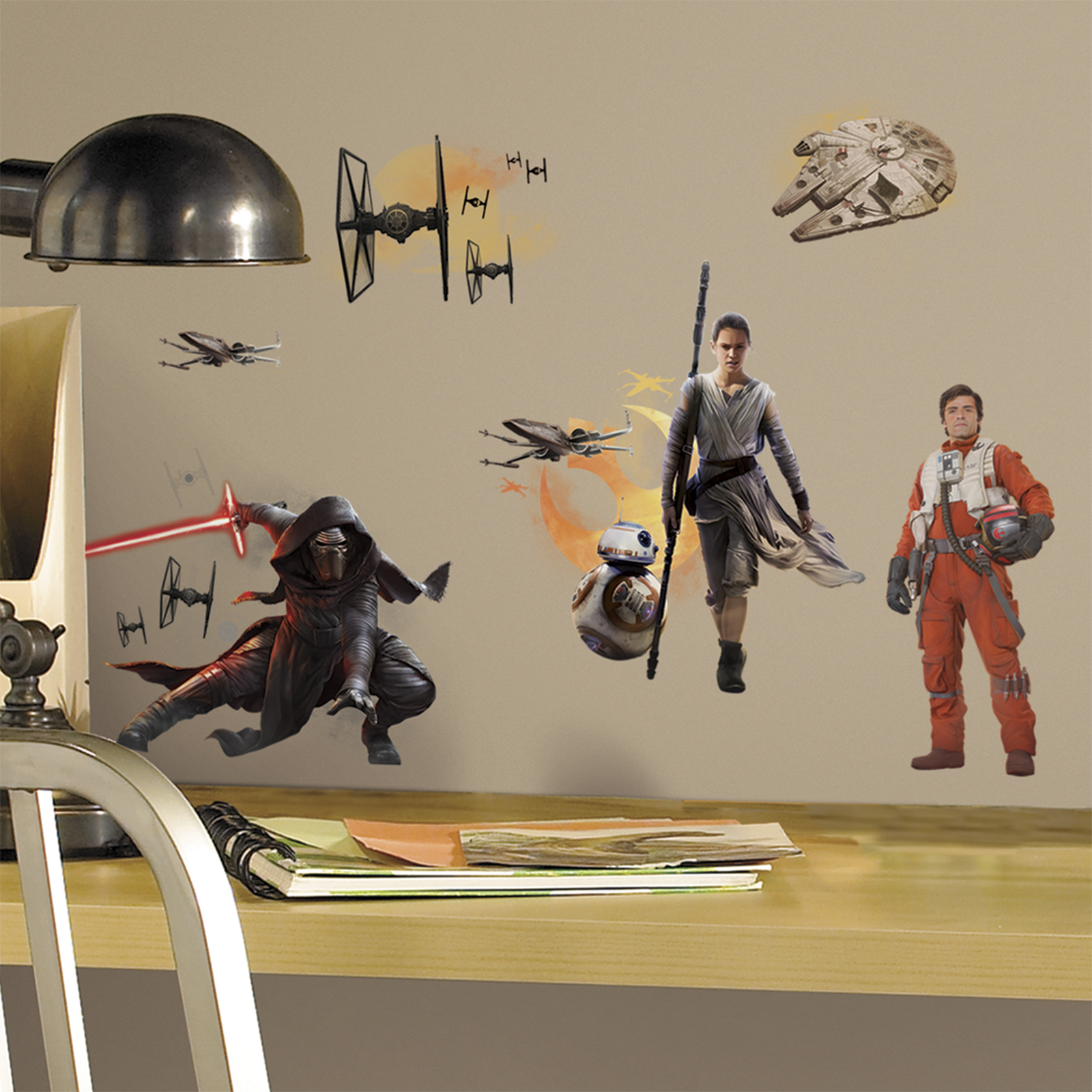 Star Wars 7 The Force Awakens Characters Peel And Stick Wall Decals