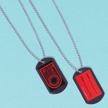 Star Wars 7 The Force Awakens Plastic Dog Tags with Sticker