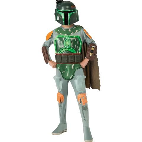 Star Wars Deluxe Light-Up Boba Fett Child Costume