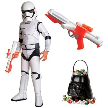 Star Wars Ep VII: The Last Jedi - Storm Trooper SPR DLX Child Costume with Blaster and Candy Pail